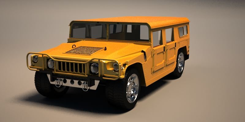 3d model vehicle humvee military hummer