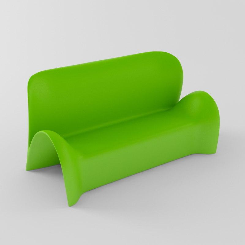 sofa outdoor indoor 3d model