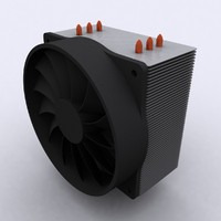Vertical AMD INTEL CPU Heatsink And Fan Cooler