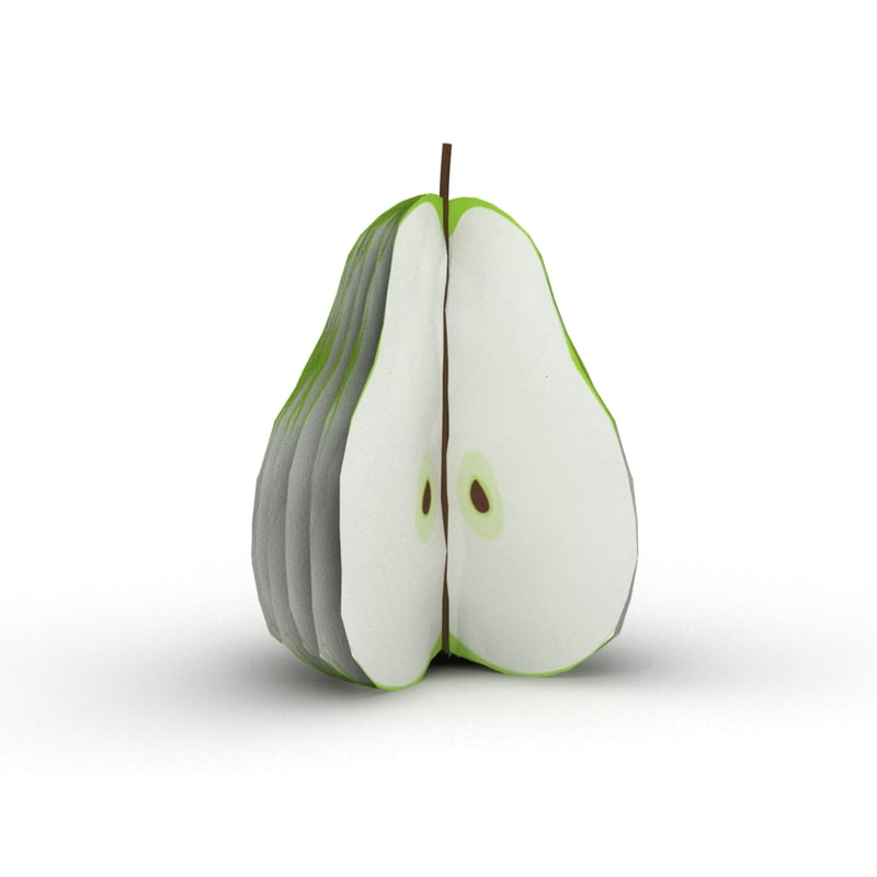 3d pear notepad model