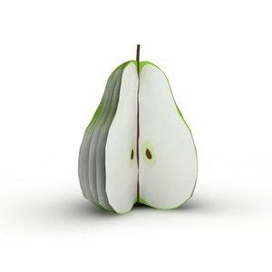 3d pear notepad model