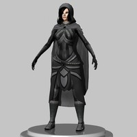 Female thief Low Poly