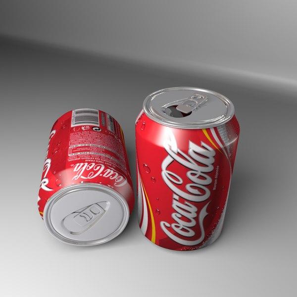 coca-cola soft drink 3d model