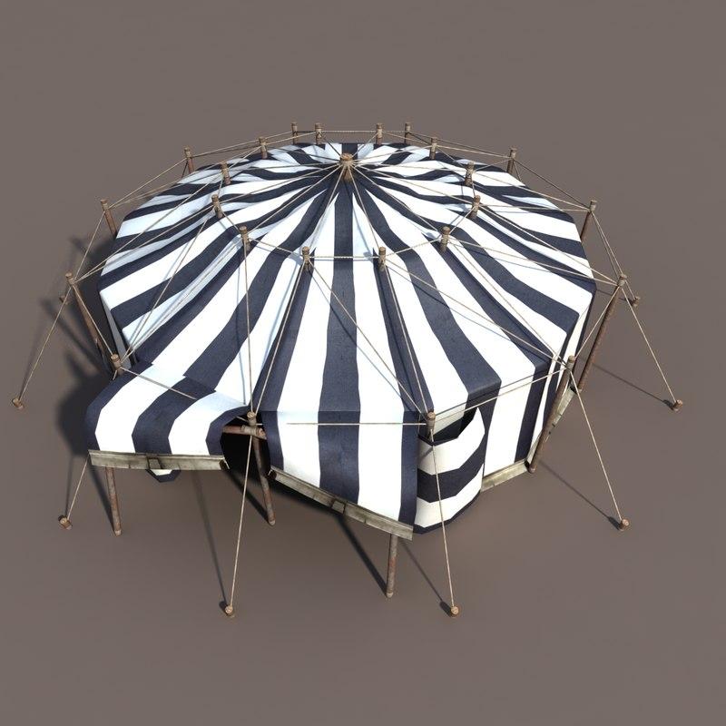 circus tent obj