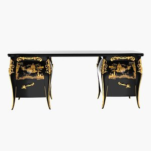 baroque night stand 3d max