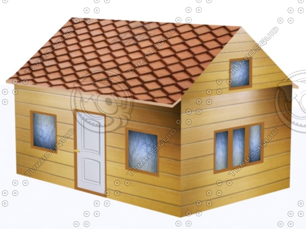 free two-story cottage siding 3d model