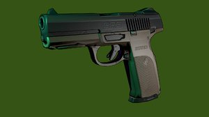 free 3ds model sr9 pistol