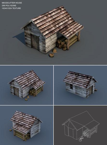 woodcutter house 3d model