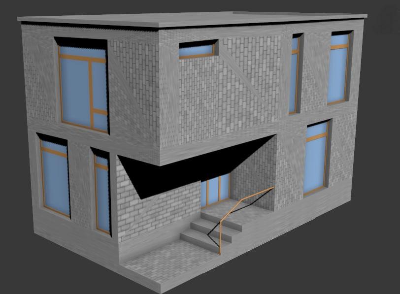 house apartment cottage 3d model