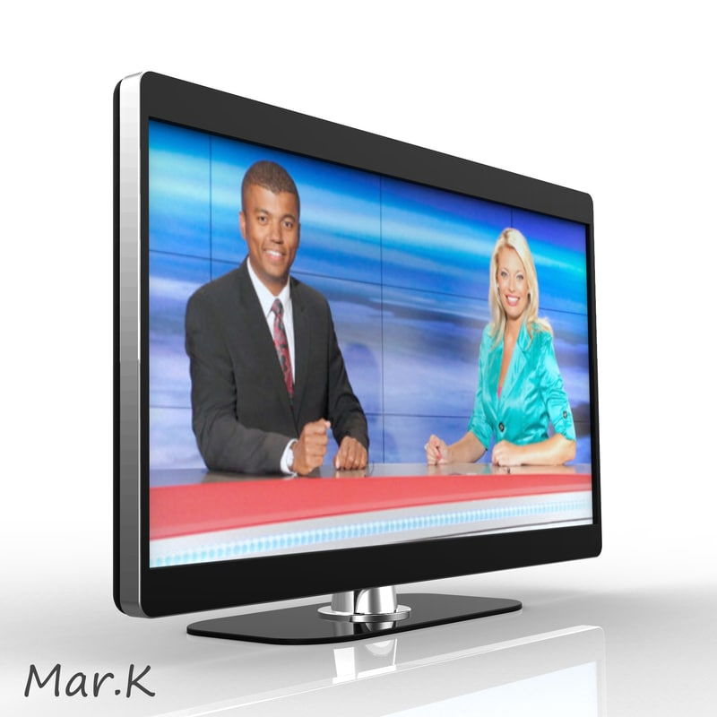lcd television 3d model