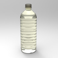 3d model water bottle