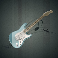 fender stratocaster guitar 3d x