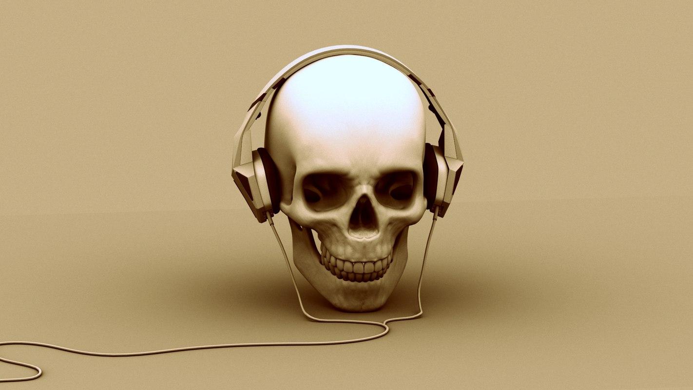 3ds max diesel headphones skull