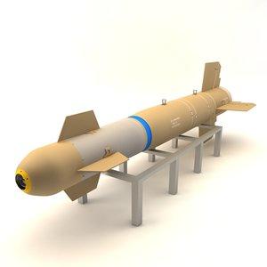 bomb glide weapon 3d max