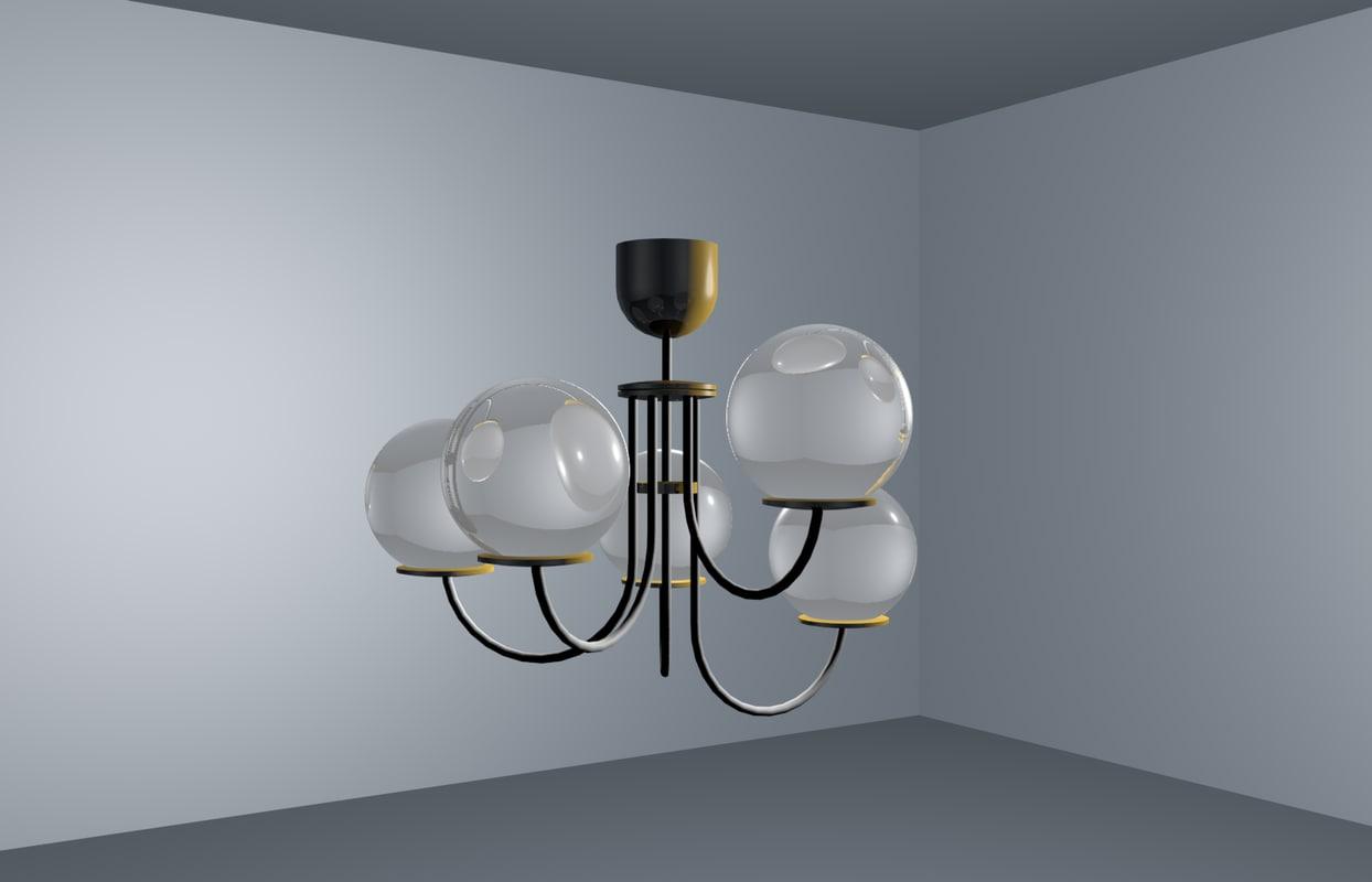 3d room chandelier model