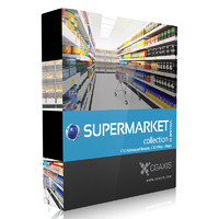 CGAxis Models Volume 32 Supermarket C4D