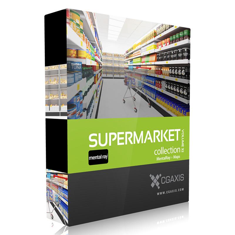 volume 32 supermarket market 3d model