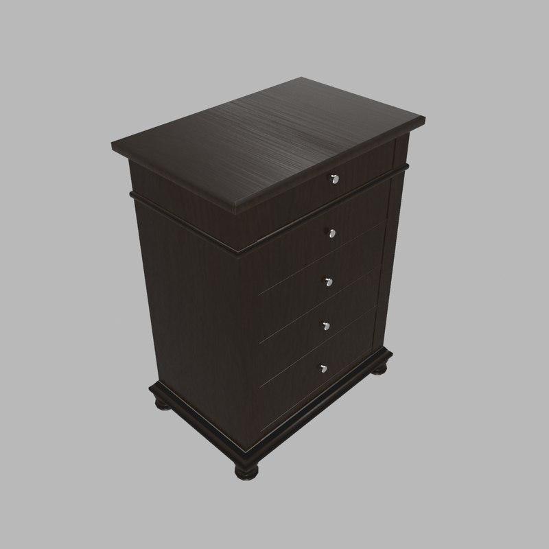 drawer dresser 3d model