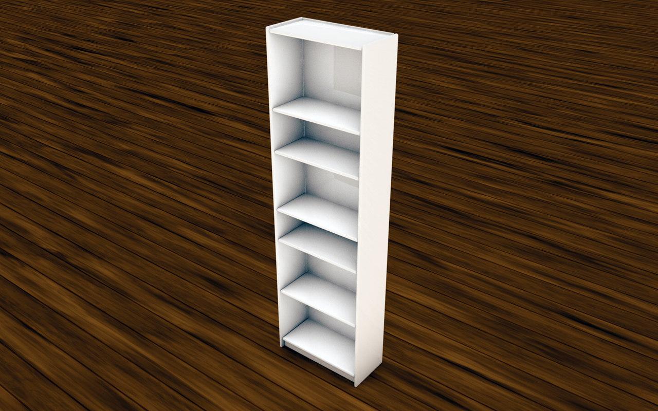 3d bookcase model