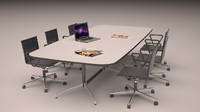 3d meeting room table