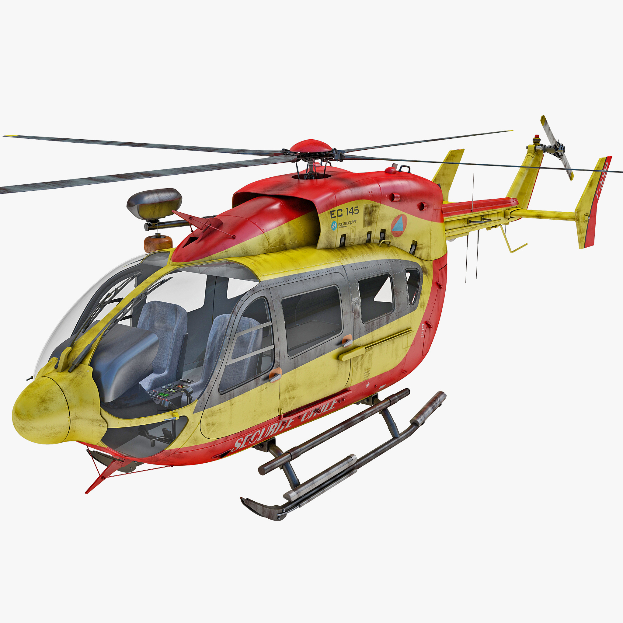 3d eurocopter ec145 2 helicopter