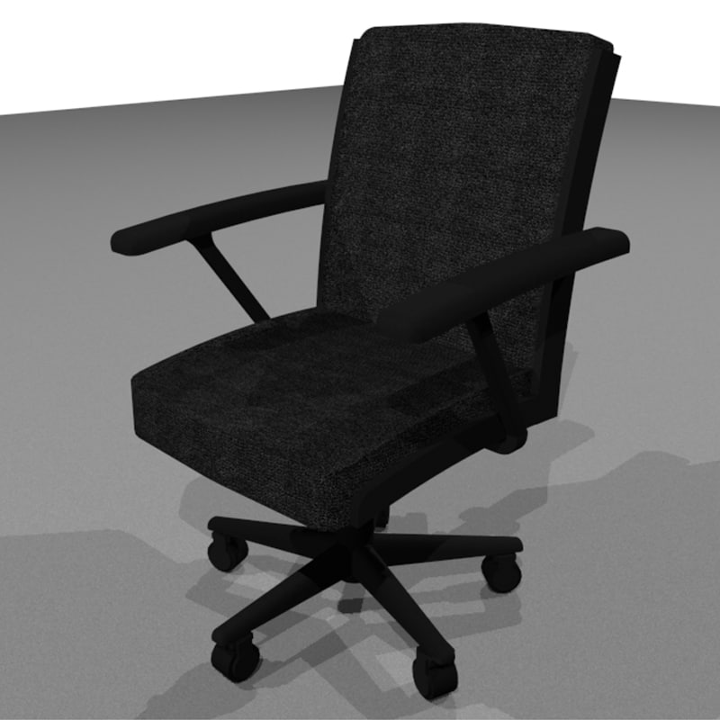 3d office chair computer model