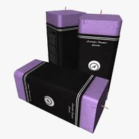 generic rectangular candle lighting 3d obj