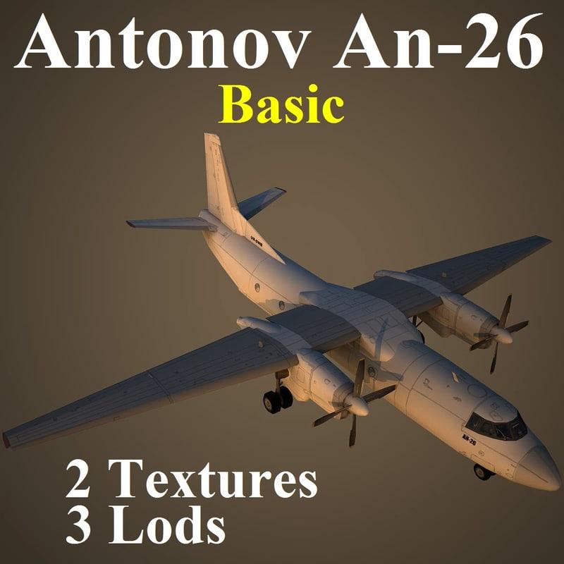 3ds max an-26 basic