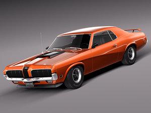 muscle car antique sport 3d lwo