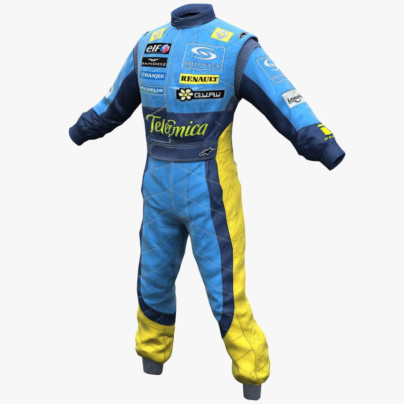 3d racing driver clothes 2 model