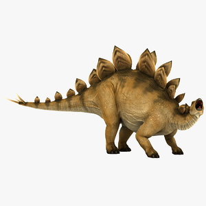 stegosaurus pose 2 3d model