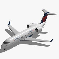bombardier crj-200 delta connection 3d 3ds