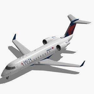 bombardier crj-200 delta connection 3d 3ds