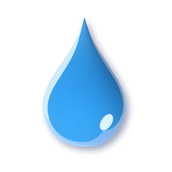 water drop 3d model