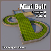 Low Poly Mini Golf Hole C4H8