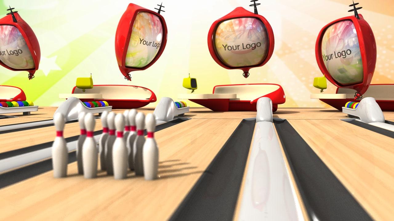 cartoon bowling 3d obj