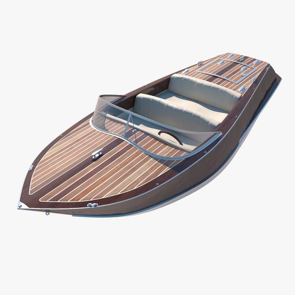 boat speedboat 3d model