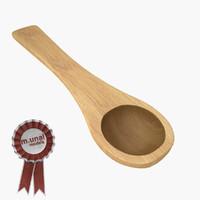 3ds wooden baking spoon