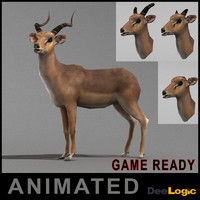 antelope rigged animations 3d max