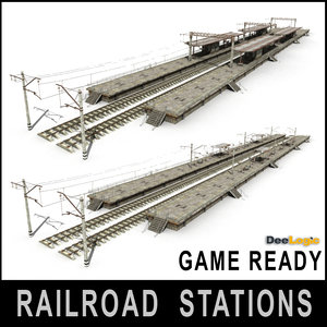 railroad stations 3d max