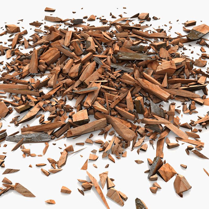 3d model wood debris