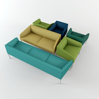 saari seating sofas 3d model