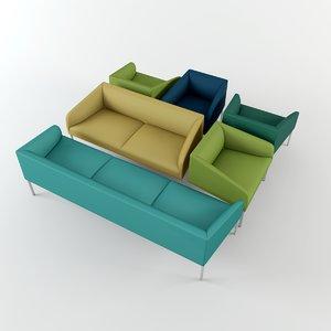 saari seating sofas 3d model