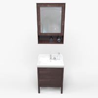 3d model bathroom basin