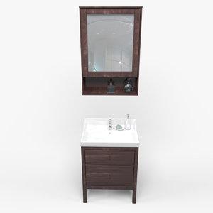 3d model bathroom basin