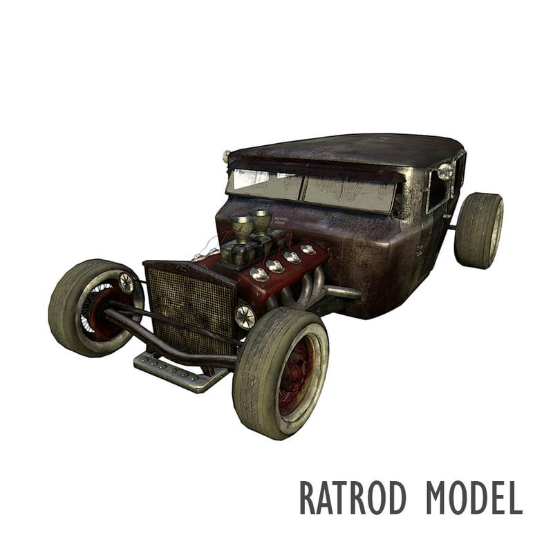 fictional 1930 era car 3d model