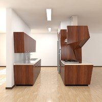 3d kitchen scene modern 2011