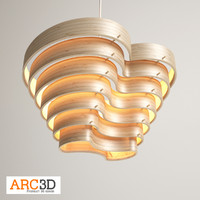 birch pendant light 3d max