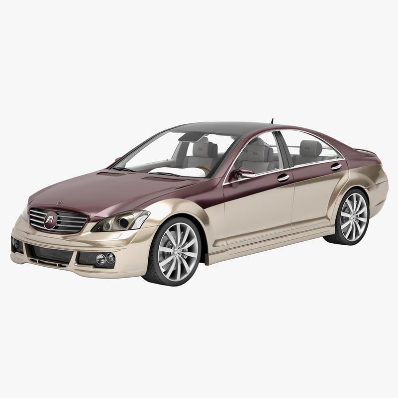 3d model art mercedes benz s class