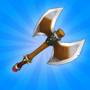 3d ready medieval axe model